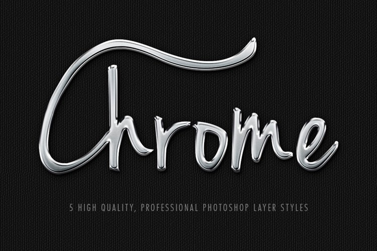 Chrome Effects Photoshop Layer Styles
