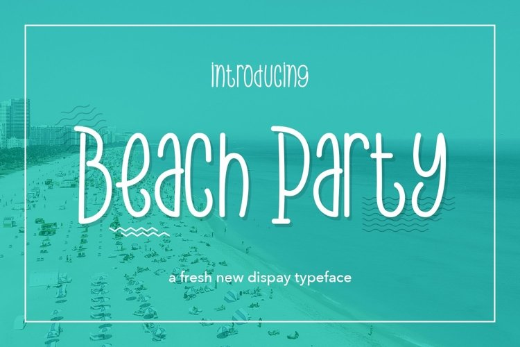 Web Font Beach Party example image 1