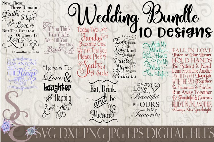 Wedding SVG Bundle 10 Designs