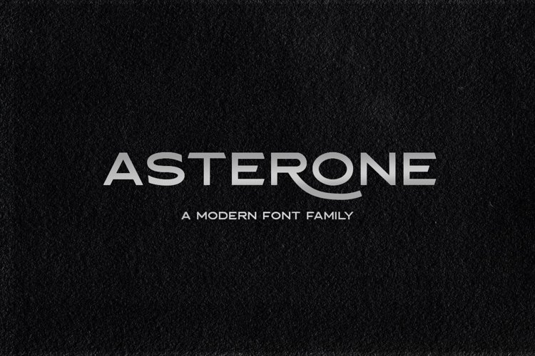 Asterone - Modern Font Family example image 1