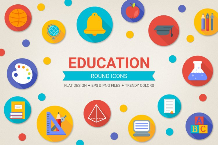Round Education Icons