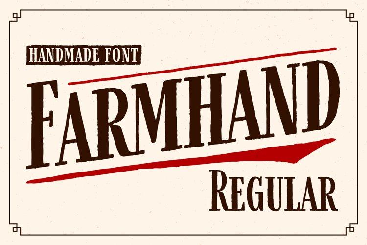Farmhand Regular Font