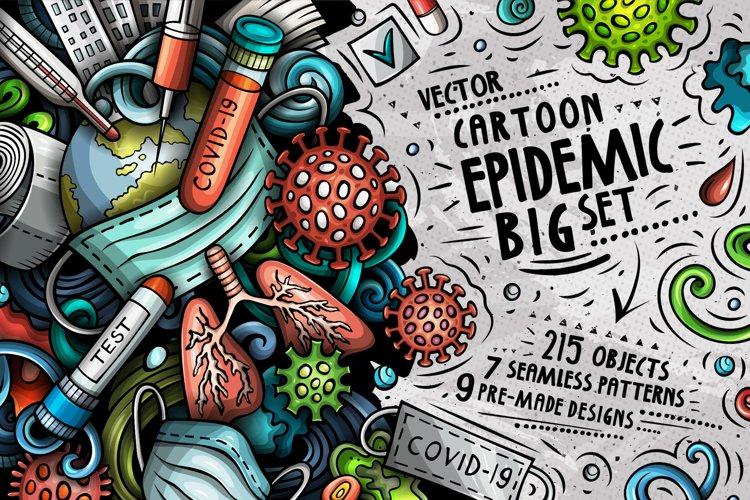Epidemic Cartoon Doodle Big Pack