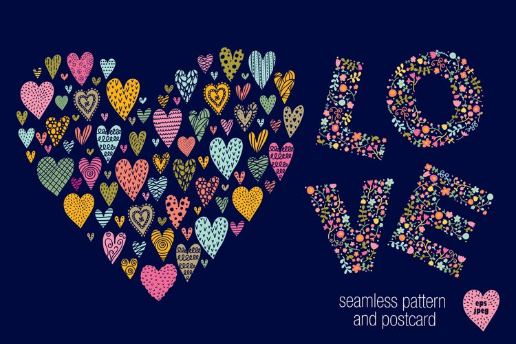 Love and hearts. example image 1