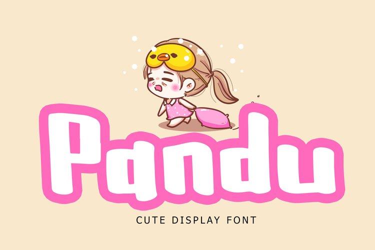 Pandu Cute Display Font example image 1