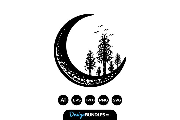 Crescent Moon Illustrations example image 1