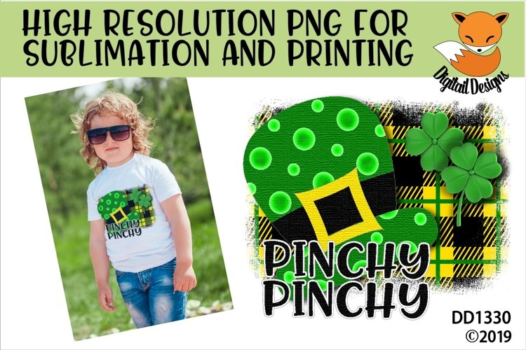 St Patricks Day Pinchy Pinchy Leprechaun Hat Sublimation