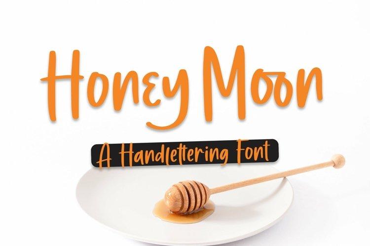 Web Font Honey Moon - Handlettering Font example image 1