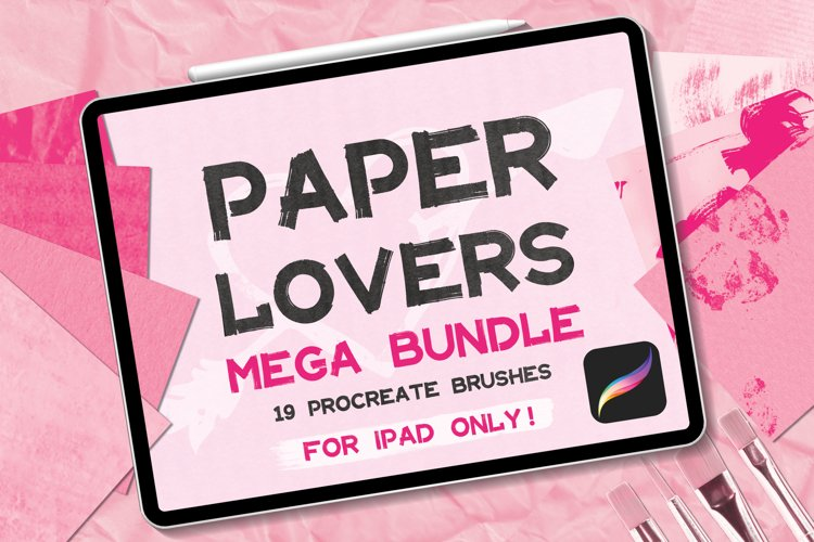 Procreate Paper Brushes Texture Add Ons Bundle Pack Digital