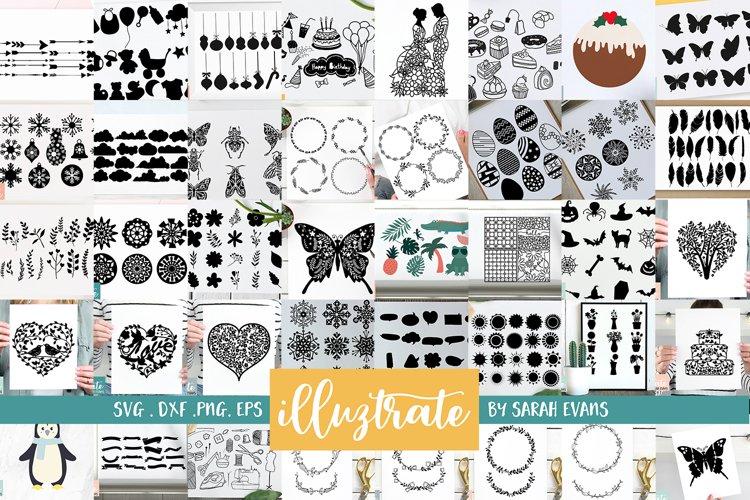 HUGE SVG Graphics Bundle - illustration SVG Cut Files example image 1