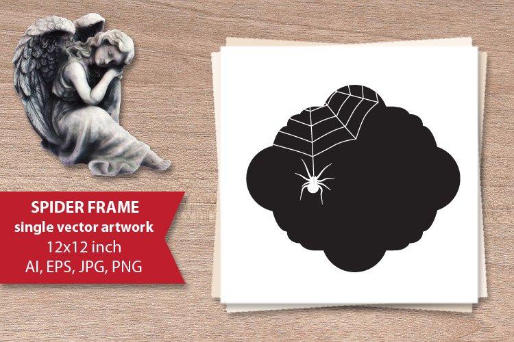 spider frame - single vector artwork example image 1