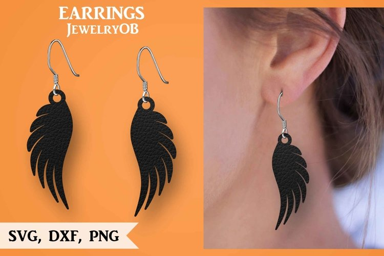Wings Earring, Silhouette Cameo, Cricut, Cut, SVG DXF PNG