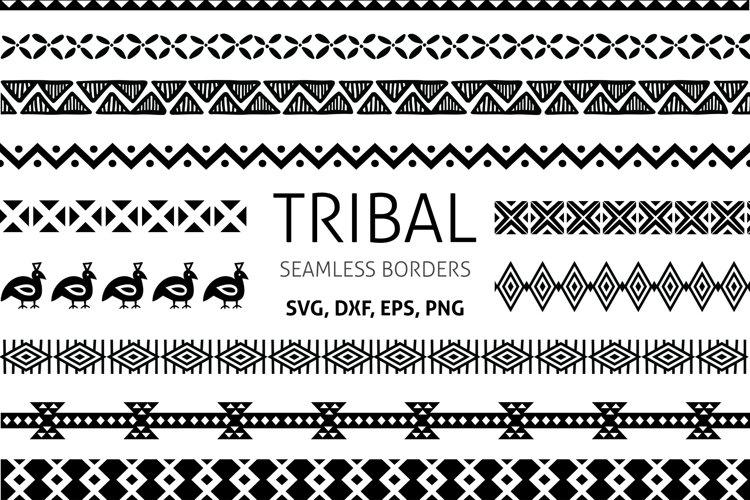 Tribal Border SVG cut files, ethnic borders clipart PNG