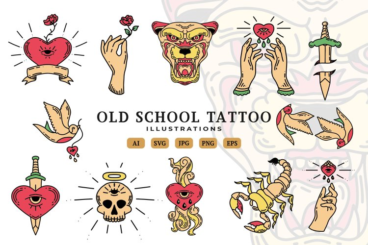 Old School Tattoo Illustrations