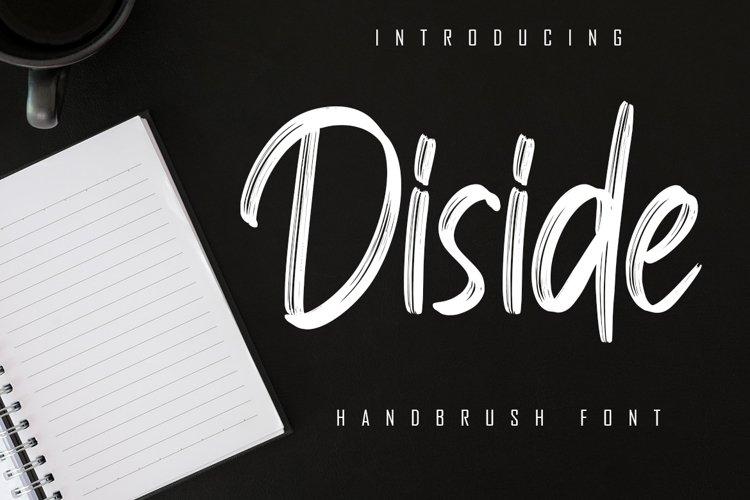 Diside - Handbrush Font example image 1