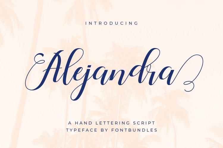 Web Font Alejandra example image 1