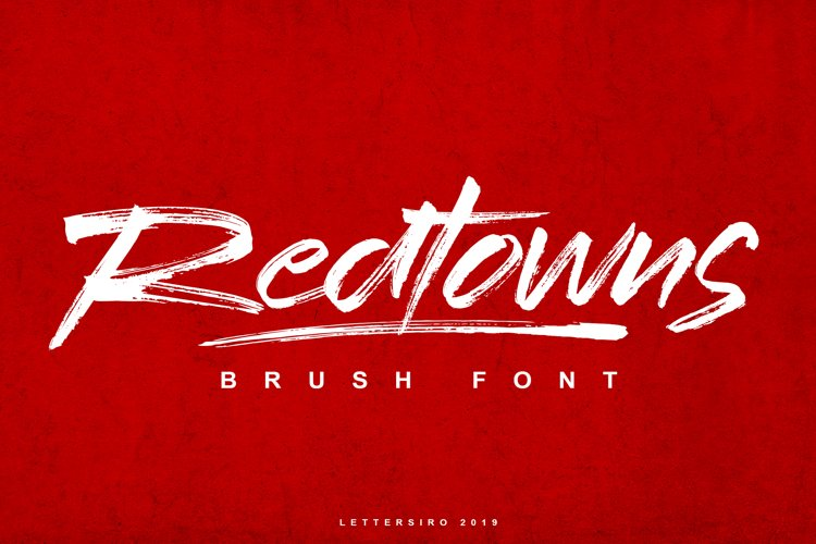 Redtowns Font example image 1