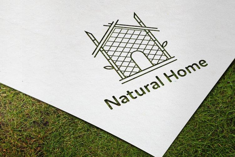 bamboo house logo design