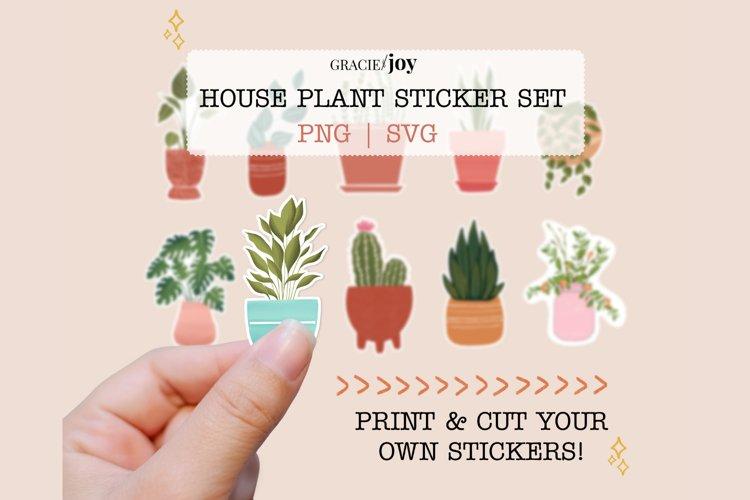 Houseplant Sticker Set, Print then Cut by Gracie and Joy