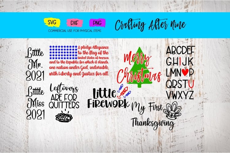 Holiday Bundle, Valentines, Christmas, 4th of July, New Year example image 1