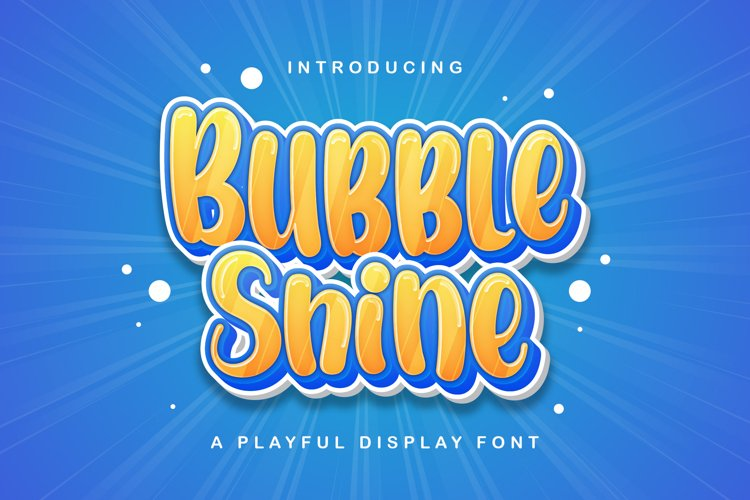 Bubble Shine - Playful Display Font example image 1