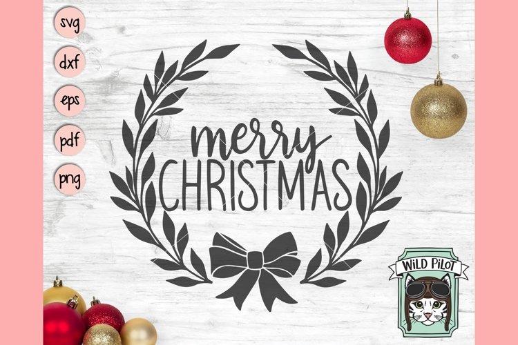 Merry Christmas SIgn SVG, Merry Christmas Wreath SVG, Bow
