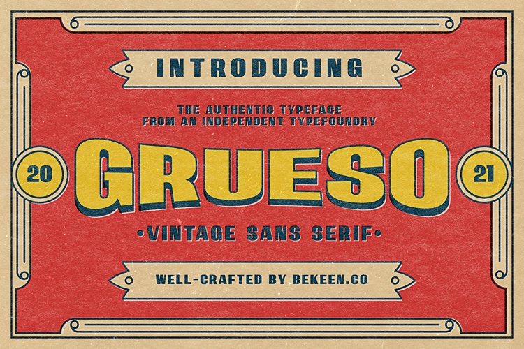 GRUESO - Vintage Typeface example image 1