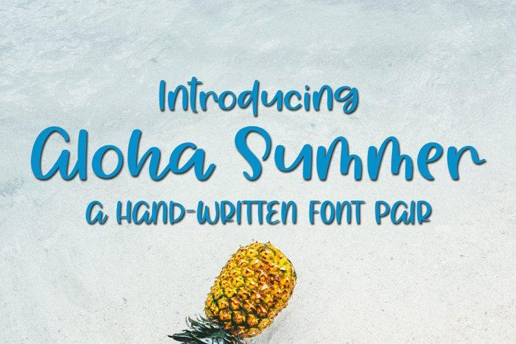Aloha Summer - A Summery Hand-Written Font example image 1