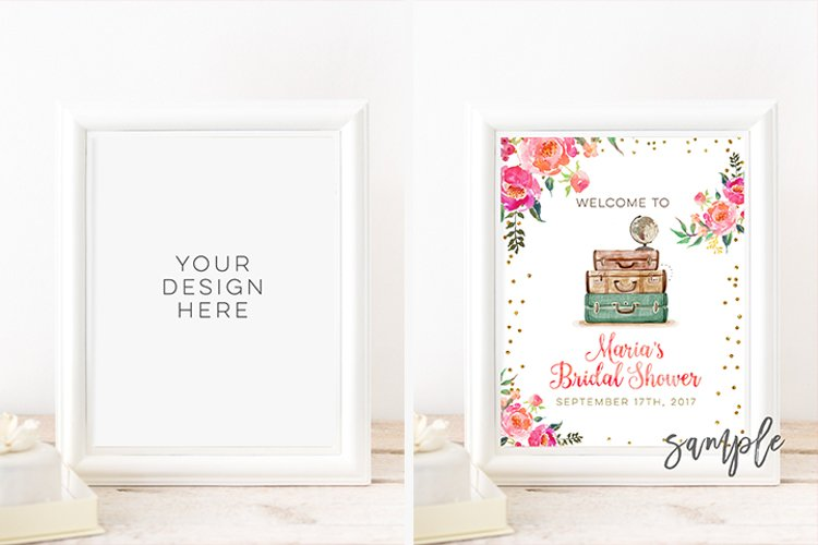 Digital print mockup, 8x10 DIGITAL White Frame Mockup, 16x20 24x30 Vertical DIGITAL WHITE Frame Mock up, Styled stock photography Wedding example image 1