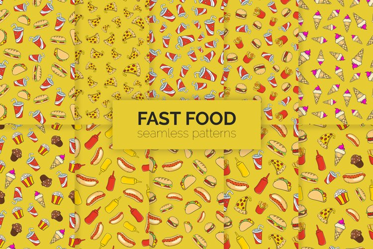 Fast Food Seamless Patterns example image 1