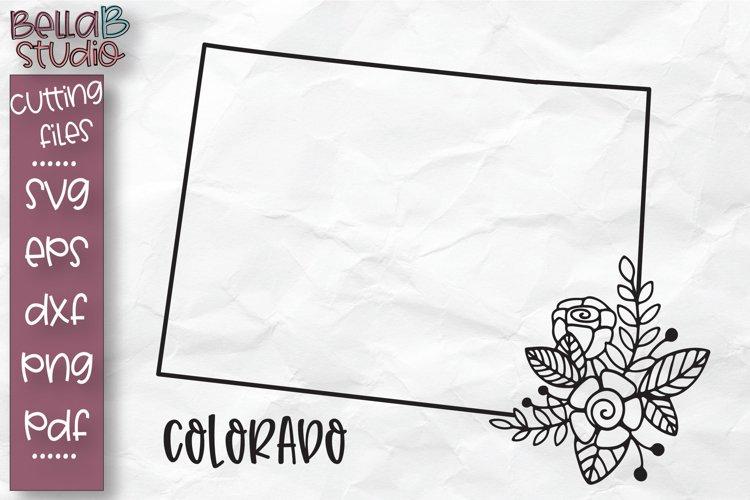 Colorado State SVG, Colorado Floral State Map SVG, Colorado