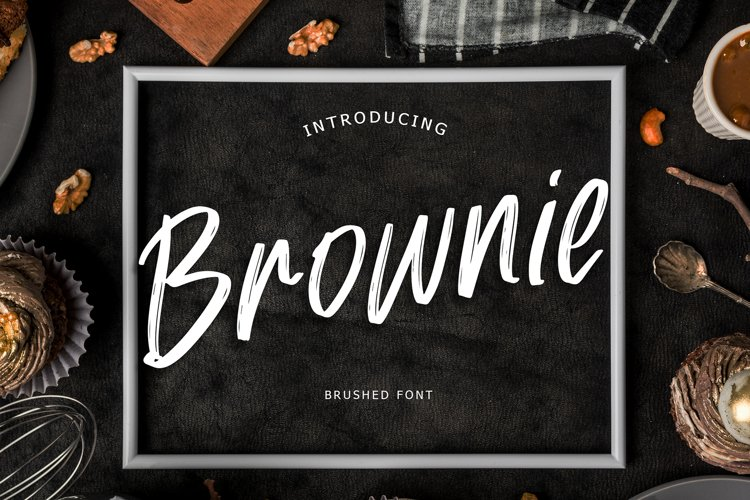 Brownie Brush Font example image 1