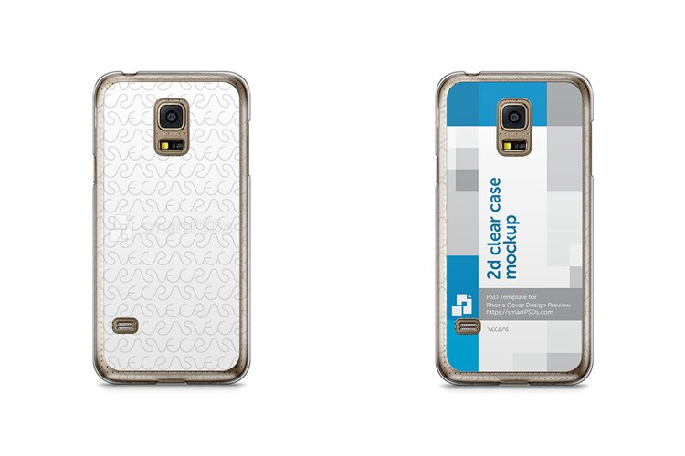Samsung Galaxy S5 Mini 2d Clear Mobile Case Mockup 2014 example image 1