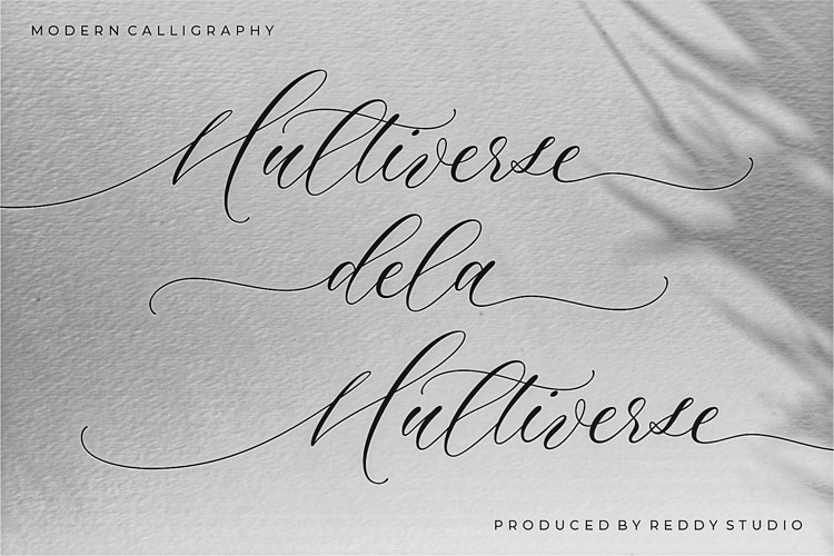 Multiverse Calligraphy Font example image 1