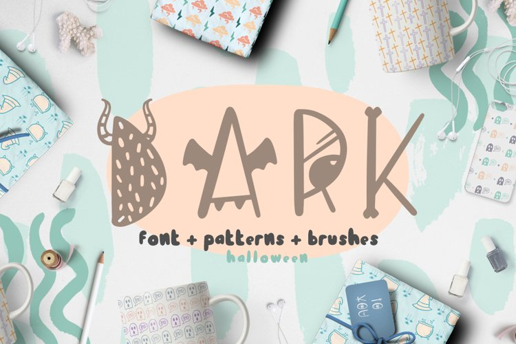 Dark font patterns, brushes and more!