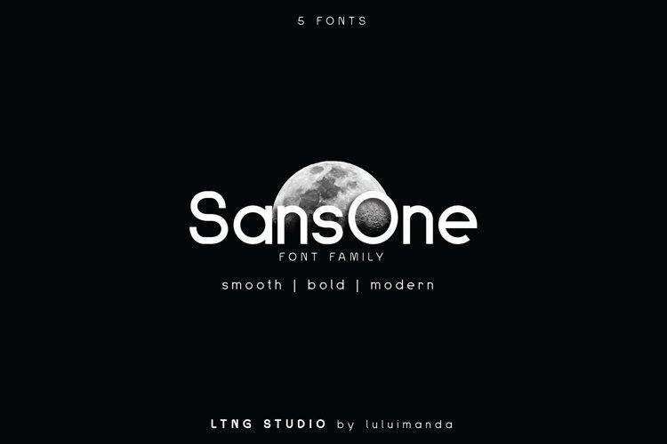 Sans One Font family