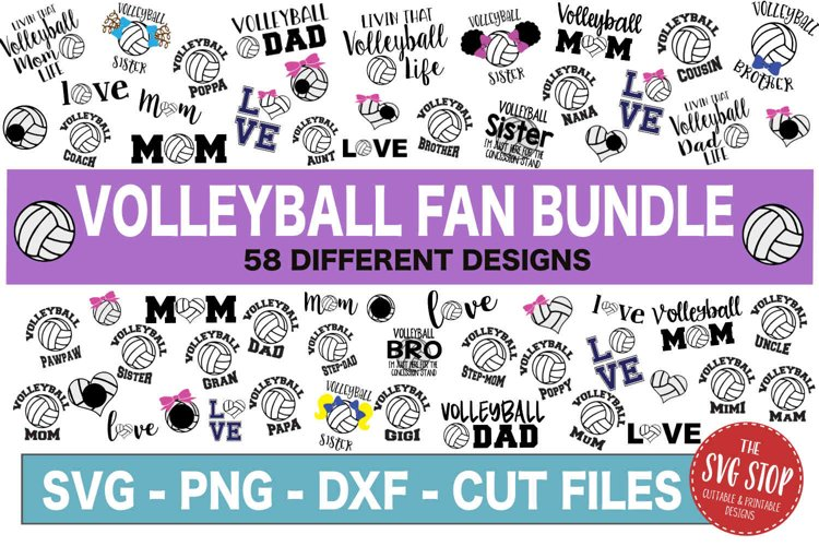 Volleyball SVG Bundle -SVG, PNG, DXF
