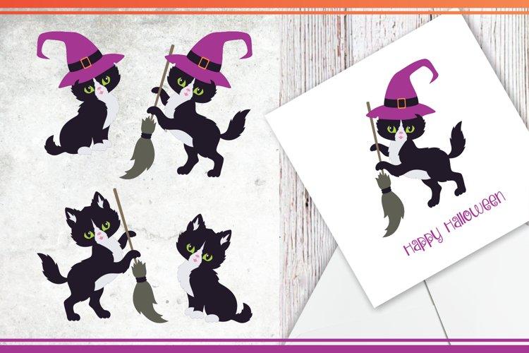 Black cats. Halloween clip art example 4