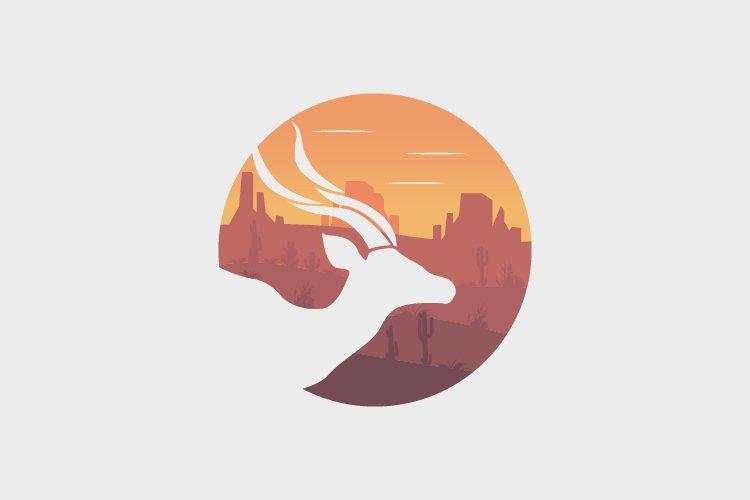 Oryx animal circle illustration example image 1