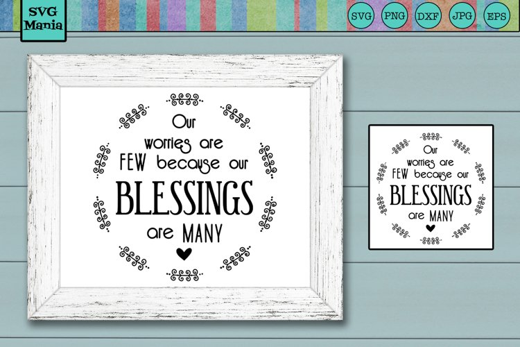 Round Blessings SVG File, Round Sign SVG, Inspirational SVG example image 1