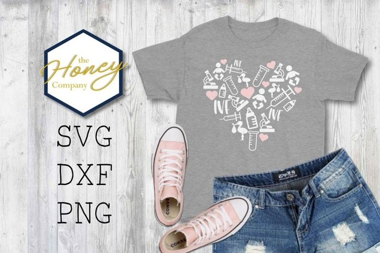 IVF Infertility Awareness Baby SVG DXF PNG Cut File Vector