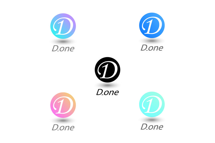 button letter d, vector illustration example image 1