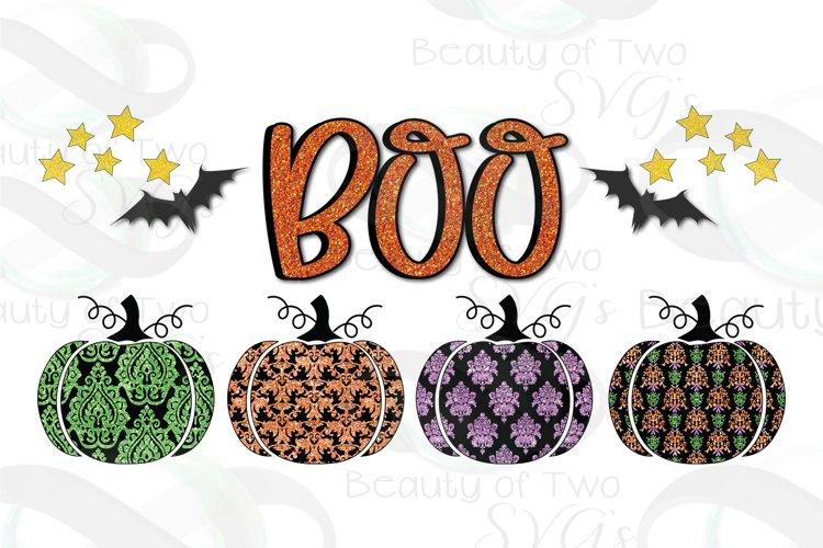 Halloween Pumpkins Boo Damusk Sublimation Design png 300 dpi example image 1