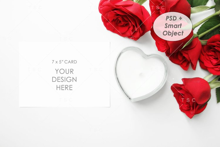 """7"""" x 5"""" Card Mockup / Invitation Card / Save the date Card example image 1"""