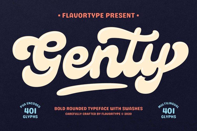 Genty - Bold Rounded Typeface example image 1