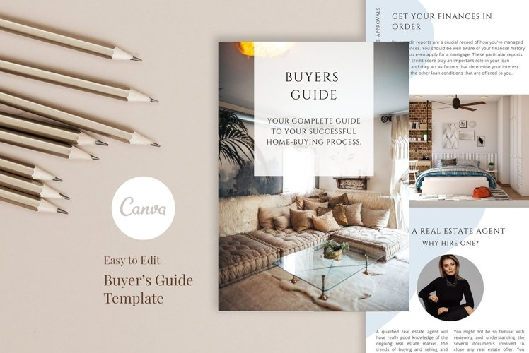 Real Estate Buyer's Presentation, 12 Pages, Canva example image 1