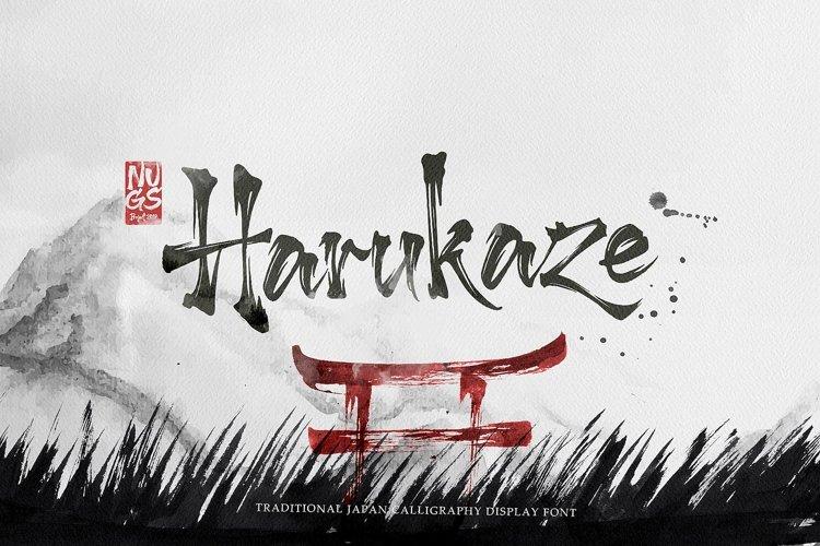 Harukaze Brush Font example image 1