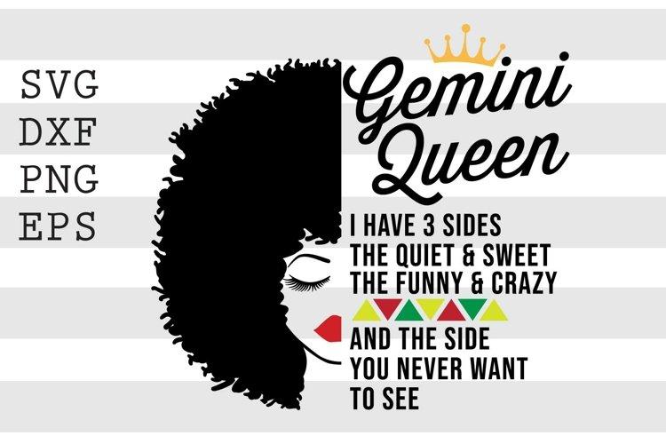 Gemini Queen SVG example image 1