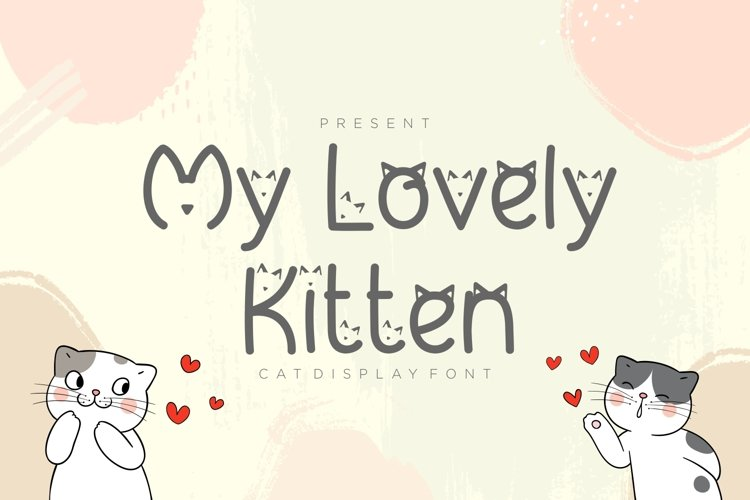 My Lovely Kitten - Cat Display Font example image 1