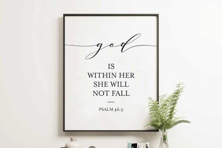 God Is Within Her She Will Not Fall Printable Art example image 1